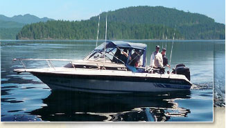 Dirty Harry - 23' cruiser -  Guided salmon fishing, Campbell River, BC, Canada