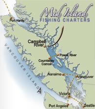 Map of Vancouver Island - Campbell RIver, BC